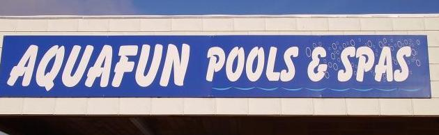 Aqua Fun Pools Sign